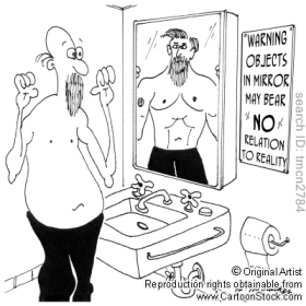 flab in mirror