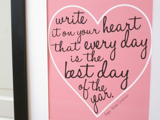 Write on heart