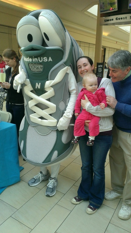 Because New Balance was a sponsor... and why not? (That's my dad with me and Baby Girl)