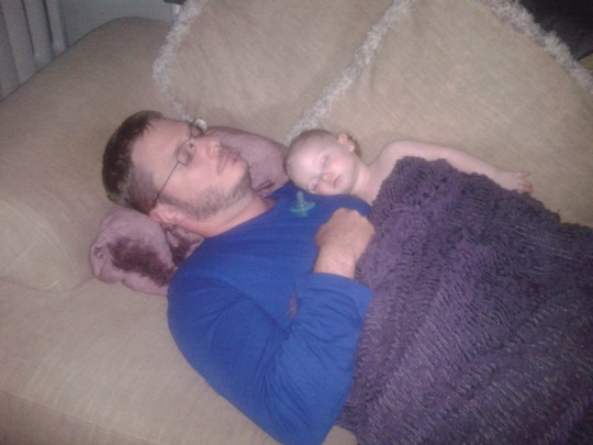 Daddy makes the best mattress/napping buddy